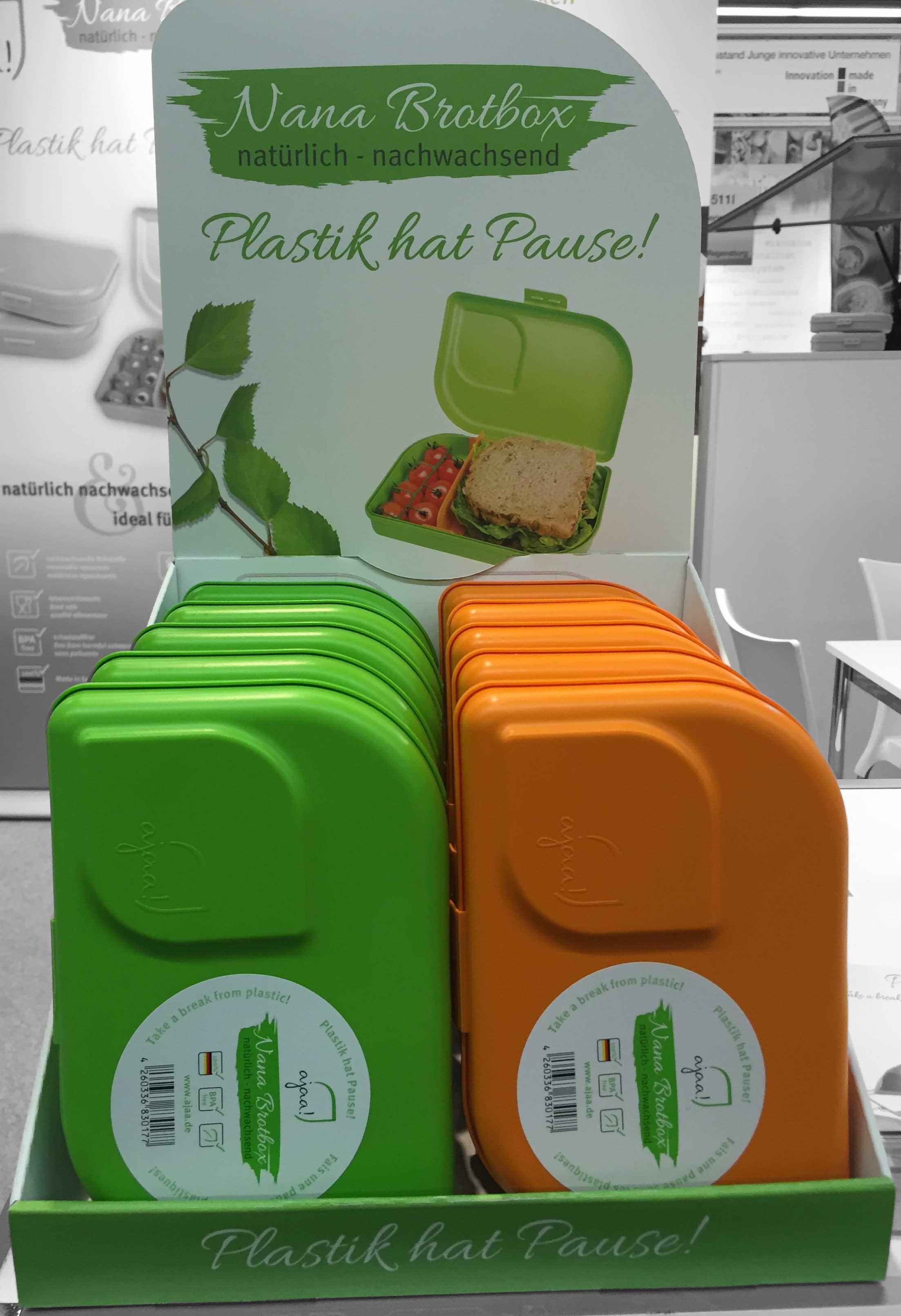 plastik hat pause ajaa bringt plastikfreie nana brotbox. Black Bedroom Furniture Sets. Home Design Ideas
