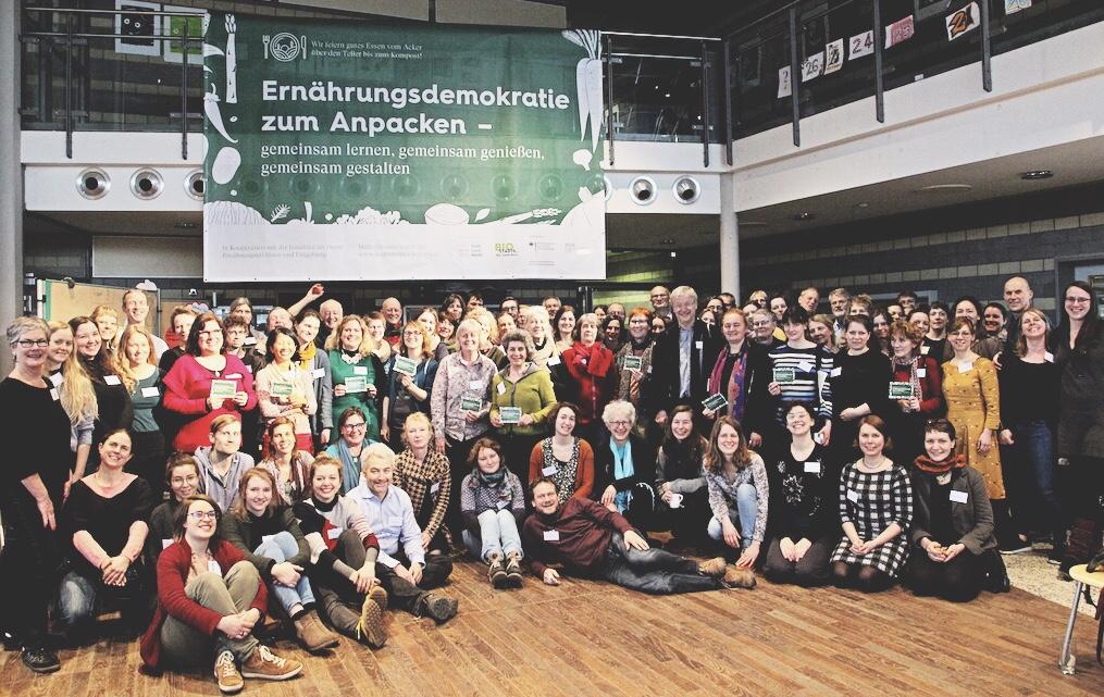Gruppenbild Ernährungsdemokratie zum Anpacken